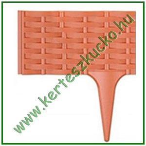 Ágyásszegély rattan hatású TERRACOTTA 19 cm x 3,9 m - PROSPERPLAST IBRA