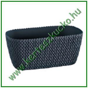 Balkonláda, fonott hatású, 30 cm ANTRACIT - PROSPERPLAST DSPC300