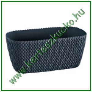 Balkonláda, fonott hatású, 40 cm ANTRACIT (DSPC400)