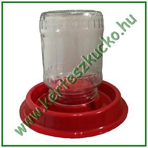 Baromfi itató, befőttes üveghez