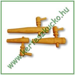 Borcsap hordóhoz (fa, parafa betét, 15 cm)