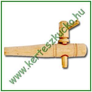 Borcsap hordóhoz (fa, parafa betét, 27 cm)