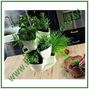 Virágpiramis, függeszthető FEHÉR - PROSPERPLAST DKN300W