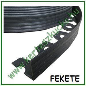 Flexibilis gyepszegély, 3,8 cm x 10 méter, FEKETE (+20 db leszúrótüske)