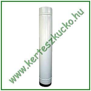 Füstcső (zománcozott, fehér, 118-as, 40 cm-es) - 10 db