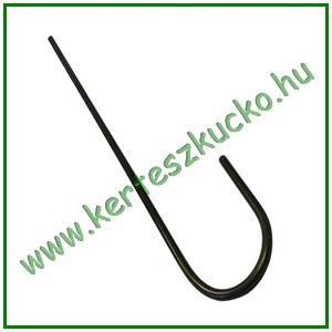 """Leszúrótüske fém, """"J"""" alakú, 20 cm"""