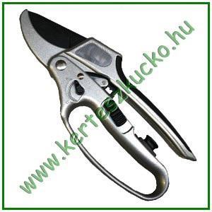 Metszőolló (kikapcsolható racsnis, fém nyél, 20 cm)