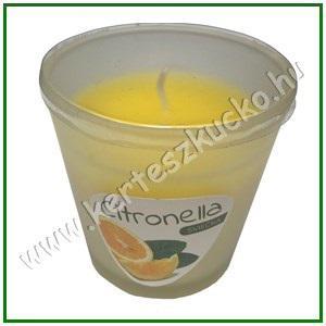 Szúnyogriasztós illatmécses poharas CITRONELLA 80 gramm