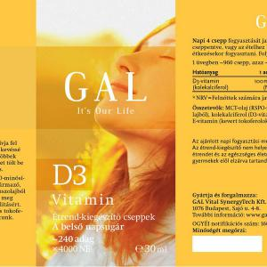 GAL D3 vitamin csepp