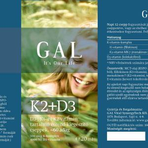 GAL K2-D3 vitamin csepp