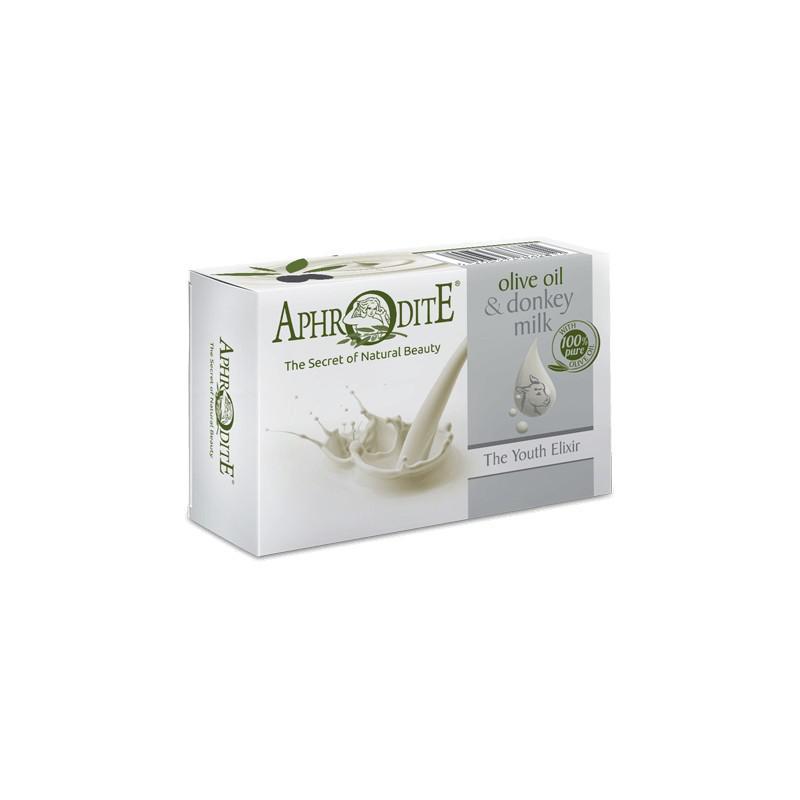 APHRODITE Bőrfiatalító szérumos olívaolajos és szamártejes szappan 100g