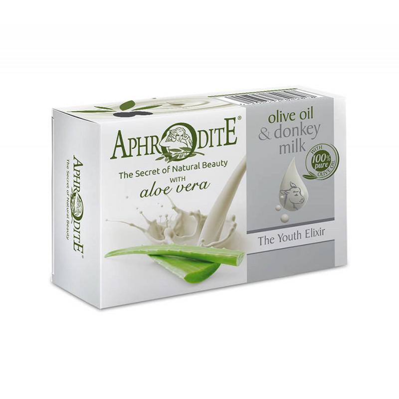 APHRODITE Olívaolajos és szamártejes szappan aloe verával 85g