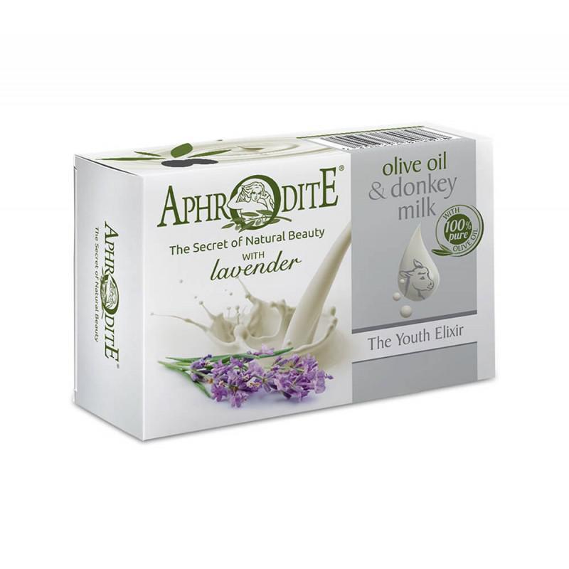 APHRODITE Olívaolajos és szamártejes szappan levendulával 85g