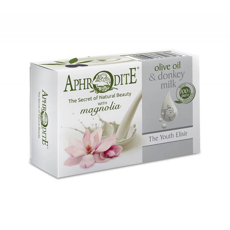 APHRODITE Olívaolajos és szamártejes szappan magnólia illattal 85g