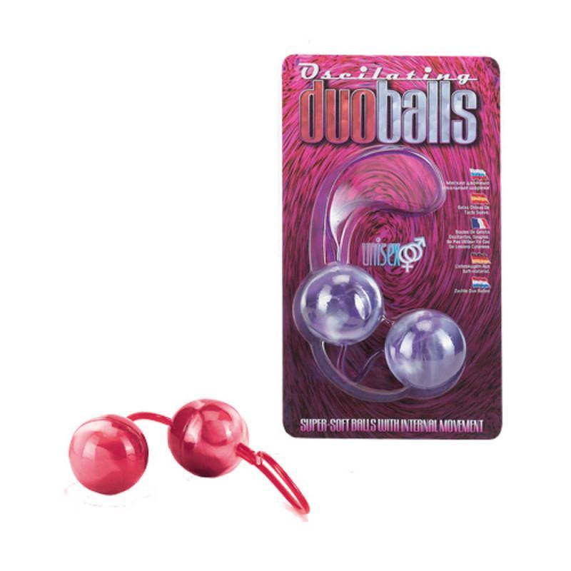 Marbilized Duo Balls Red - Gésagolyó