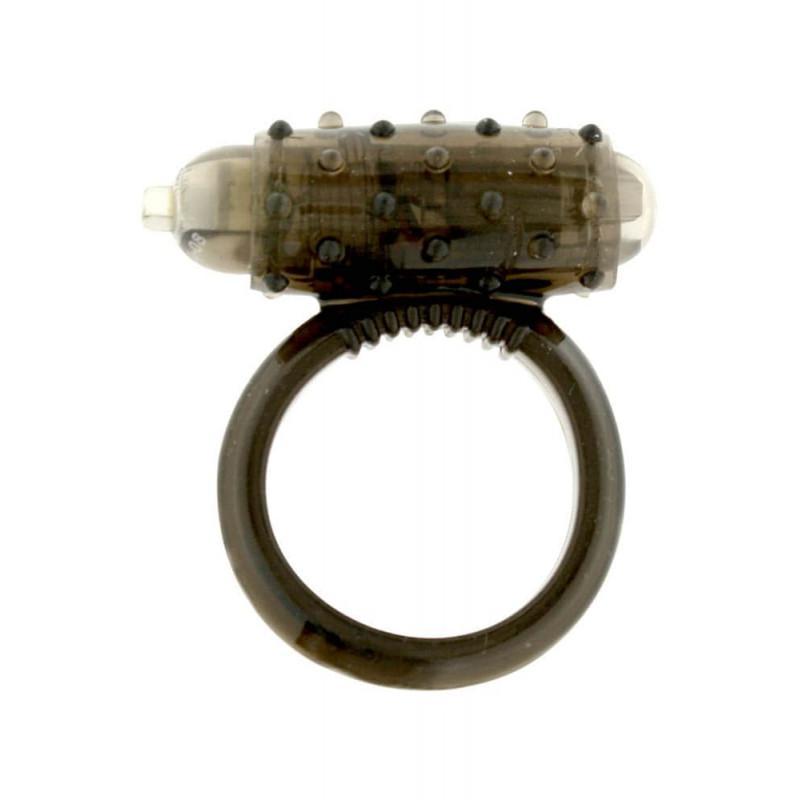 Mini Vibrating Cockring Black - péniszgyűrű