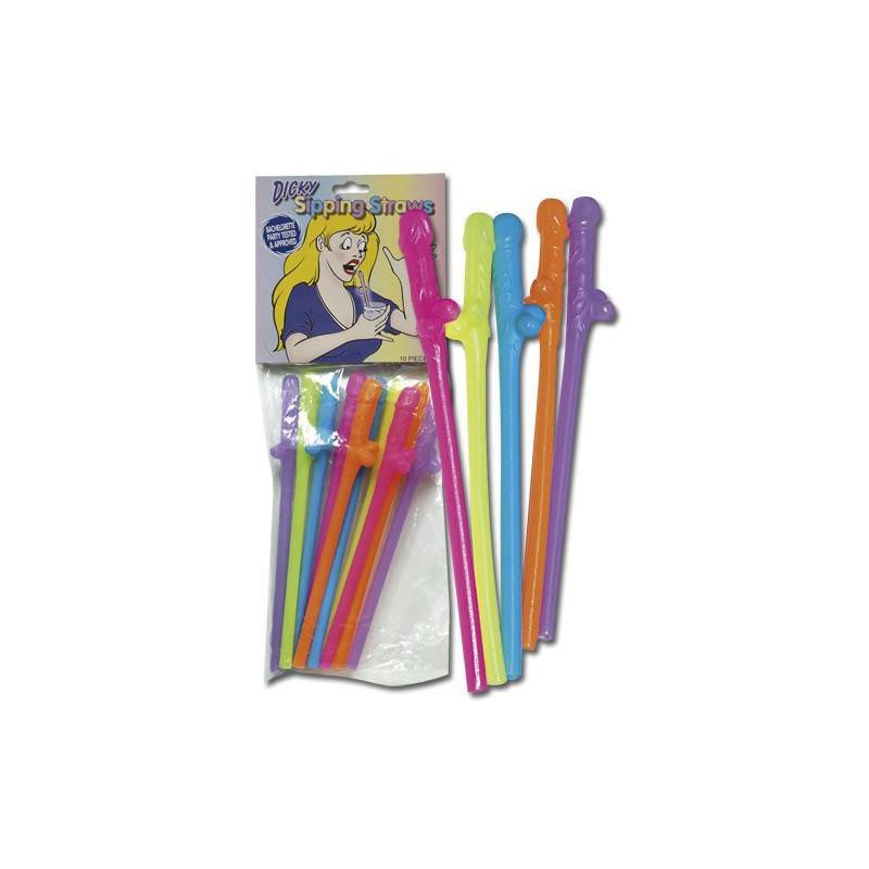 Penis Straws - színes kuki szívószál