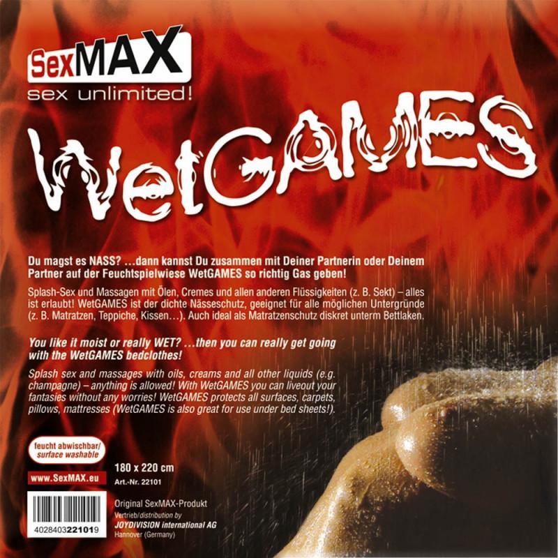 SexMAX WetGAMES - PVC ágynemű 180 x 220 cm