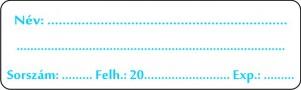 Belsőleges szignatúra 60x18 mm (kék) 42 db/ív